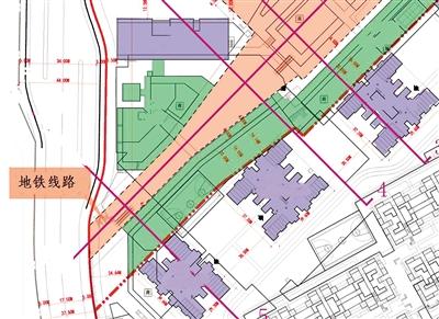 市轨道建设管理部门提取该项目建筑红线地铁线路资料